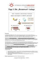 """Tipp 3: Die """"Brennwert""""-Anlage - Hydraulischer Abgleich"""