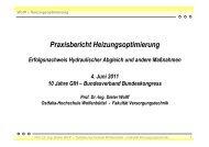 Praxisbericht Heizungsoptimierung, Juni 2011 - delta-q