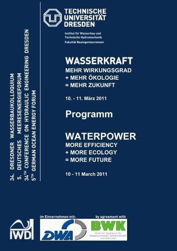 WASSERKRAFT Programm WATERPOWER - Technische ...