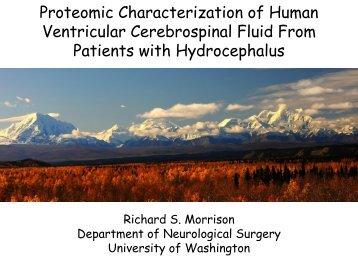 Proteomic characterization of human ventricular cerebrospinal fluid ...