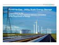 Power-to-Gas: Utility Scale Energy Storage - DOE Hydrogen and ...