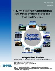 1–10 kW Stationary Combined Heat and Power Systems Status and ...