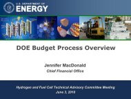 DOE Budget Process Overview - DOE Hydrogen and Fuel Cells ...