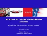 An Update on Toyota's Fuel Cell Vehicle Activities - DOE Hydrogen ...