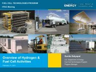 Overview of Hydrogen & Fuel Cell Activities - DOE Hydrogen and ...