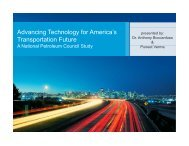 Advancing Technology for America's Transportation Future - A ...