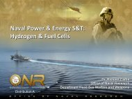 Naval Power & Energy S&T - DOE Hydrogen and Fuel Cells ...