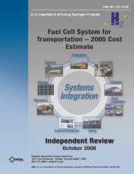 Fuel Cell System for Transportation -- 2005 Cost Estimate