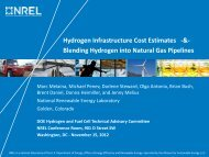 Hydrogen Infrastructure Cost Estimates and Blending Hydrogen into ...
