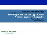 A Venture Capitalist's Perspective - DOE Hydrogen and Fuel Cells ...