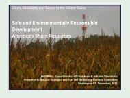 Safe and Environmentally Responsible Development--America's ...