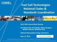 National Codes and Standards Coordination - DOE Hydrogen and ...