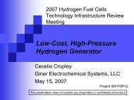 Low-Cost, High-Pressure Hydrogen Generator