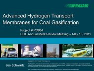 Advanced Hydrogen Transport Membranes for Coal Gasification