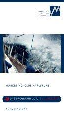 2. Halbjahr - Marketing - Club Karlsruhe