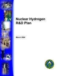 Nuclear Hydrogen R&D Plan - DOE Hydrogen and Fuel Cells ...