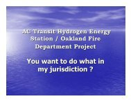 AC Transit Hydrogen Energy Station/Oakland Fire Department Project