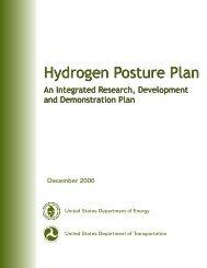 Hydrogen Posture Plan - DOE Hydrogen and Fuel Cells Program ...