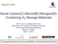 Boron(B)-Nitrogen(N) - U.S. Department of Energy - Hydrogen and ...