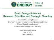 DOE Basic Energy Sciences Program Overview - U.S. Department of ...