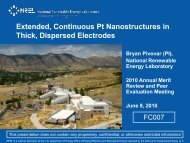 Extended, Continuous Pt Nanostructures in Thick, Dispersed ...