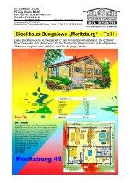"Blockhaus-Bungalows ""Moritzburg"" – Teil I : - Blockhaus Barth"