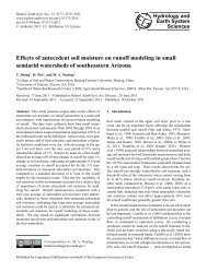 Effects of antecedent soil moisture on runoff modeling in small ...