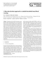A Bayesian decision approach to rainfall thresholds based ... - HAL