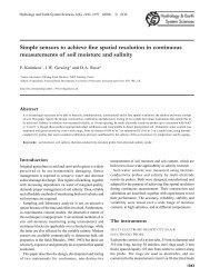 Simple sensors to achieve fine spatial resolution in continuous ...