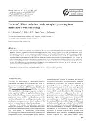 Issues of diffuse pollution model complexity arising from ...