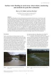 Surface water flooding in rural areas: observations, monitoring and ...