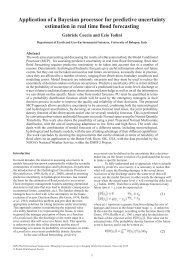 Application of a Bayesian processor for predictive uncertainty ...