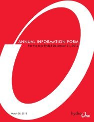 2012 Annual Information Form - Hydro One