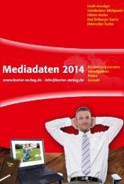 Mediadaten 2014 Kurier-Verlag