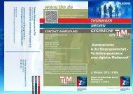 9. Oktober 2013, 18 Uhr - Thüringer Landesmedienanstalt