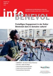 Freiwilliges Engagement in der Kultur Bénévolat ... - Benevol Bern