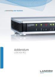 Addendum LCOS 8.84 Release Candidate - LANCOM Systems