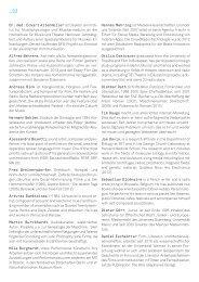Biografien der Teilnehmer - Akademie der Künste