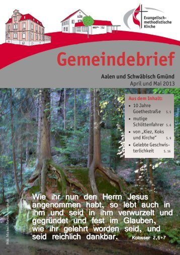 Gemeindebrief April & Mai 2013 - EmK