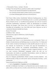 Materialien zur Vorlesung 3 -Massenmedien