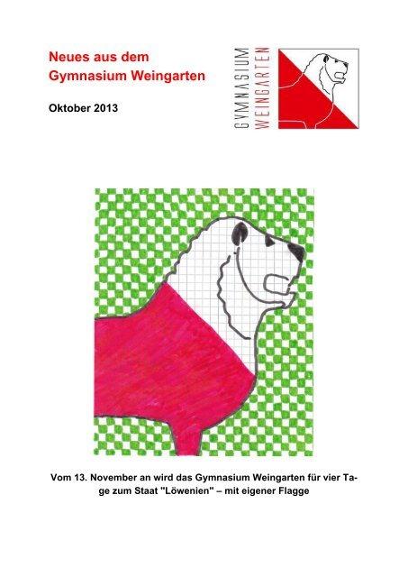 Ausgabe 4/2013 (Oktober) - Gymnasium Weingarten