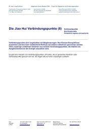 Die Jiao Hui Verbindungspunkte (8) Schlüsselpunkte - Ever.ch
