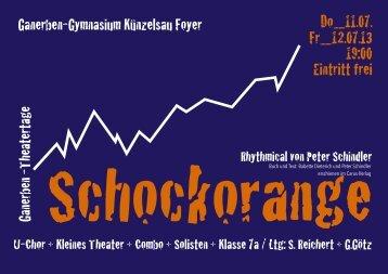 Schockorange Handzettel Pages - Ganerben-Gymnasiums Künzelsau