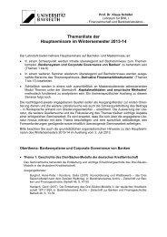 Seminare im Sommersemester 2006 - Finanzwirtschaft und ...