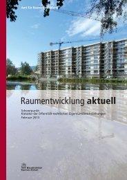 Raumentwicklung aktuell - Amt für Raumentwicklung - Kanton Zürich