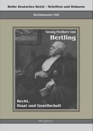 Georg Freiherr von Hertling - Recht, Staat und Gesellschaft - Buch.de