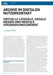 ArchivE iM digiTALEN NuTzErKoNTAKT - Hypotheses