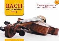 Programmheft - Bach Cantatas