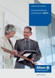 Investmentfonds und Steuern 2013 - PROfinance-direkt