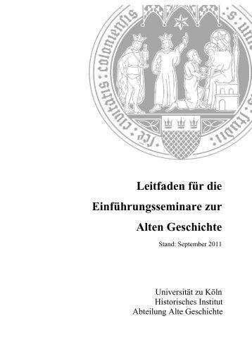 Leitfaden für die Alte Geschichte - Philosophische Fakultät